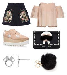 """Outfit para ir a una cena"" by carolinagonzalez-v on Polyvore featuring moda, Vilshenko, STELLA McCARTNEY, Fendi y Disney"