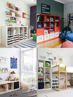 Les meubles de la collection Kallax de chez #ikea...parfaits pour ranger les nombreux jouets des enfants