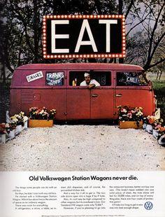 Vintage Volkswagen Ad #remorque #Volkswagen #Combi #caravane : http://remorques-discount.com/fr/