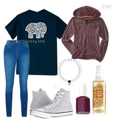 """""""idk,it's cute"""" by madelynnnnnnnne on Polyvore featuring Converse, Aéropostale and Essie"""
