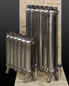 Polished cast iron radiators in #50shadesofgrey. Talk to Simply Radiators.