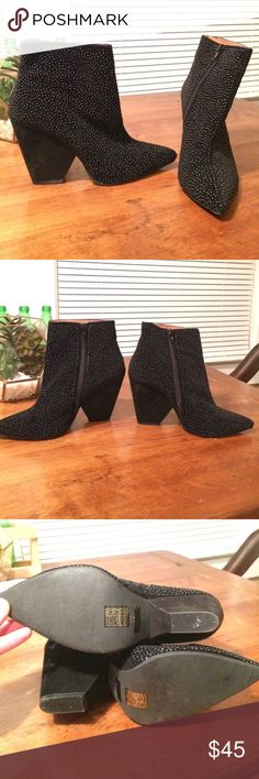 Jeffrey Campbell Black Studded Booties These barely worn, amazing Jeffrey Campbell booties are just the right mix of edgy and classic. Only selling because they are just a tad too small. Such awesome booties!! Jeffrey Campbell Shoes Ankle Boots & Booties