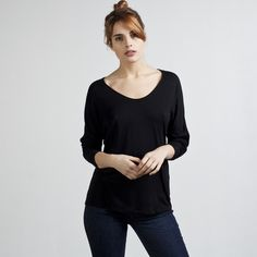 If I didn't have too many black and charcoal shirts, I'd be all over this! Everlane - The Ryan Long Sleeve $30