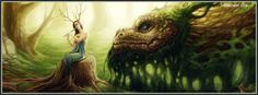 woodland fairy and dragon for facebook