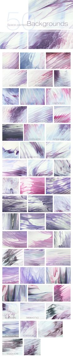 50 Abstract Pastel Backgrounds by Nkate on @creativemarket