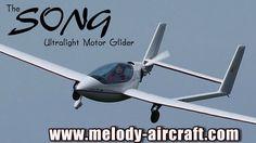 Song ultralight aircraft motor glider from Melody Aircraft Ultralight Plane, Executive Jet, Pilot License, Post War Era, Float Plane, Experimental Aircraft, Aircraft Design, Nose Art, Gliders