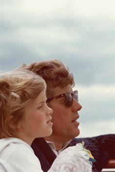 .President JFK and Caroline Kennedy