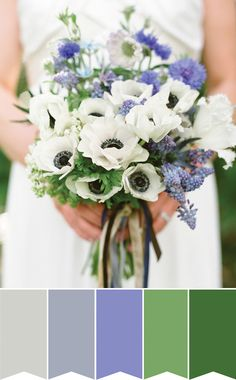 Beautiful Blue Bouquet | Pretty Bouquet Palettes to Inspire your Spring Wedding | www.onefabday.com