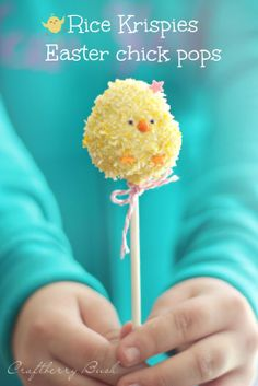 Craftberry Bush: *Rice Krispies Easter chick pops