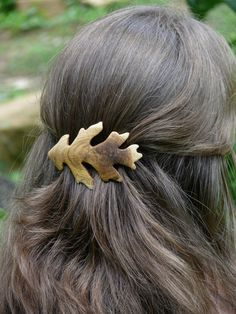 Gorgeous handcrafted wooden barrette by Jem Klein.
