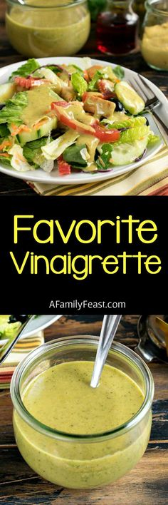 Our Favorite Vinaigrette is a versatile, delicious salad dressing that everyone should have in their recipe collection!