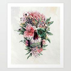 skull, collage, art, arte...