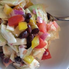 Fast Southwestern Vegetarian Cabbage Salad - Healthy 5-Minute Meals from Nutrition Pros - Shape Magazine