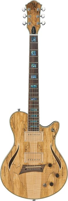MICHAEL KELLY Hybrid Special Spalted Maple Top Electric Guitar Natural