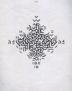 Mary Martin Drawing for Cross 1968 pen on paper: