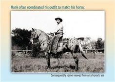 """Horse's Ass, an Elizabethan Production greeting card - """"Hank often coordinated his outfit to match his horse; (Consequently some viewed him as a horse's ass)."""" Inside: Remember, it's one thing to be a party animal; Entirely another to dress like your pet, Happy Birthday.  Available at Rusty Moose Country Gifts in Spokane, WA http://www.facebook.com/rustymoosecountrygifts"""