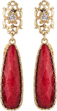 Shop for Long Rhinestone-Bale Earrings, Ruby Red by Amrita Singh at ShopStyle. Now for Sold Out. Black White Red, Red Gold, Amrita Singh, Red Fashion, Ruby Red, Lady In Red, Burgundy, Drop Earrings, Tequila Sunrise