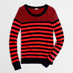 Factory wool-blend two-tone stripe sweater. DO WANT.