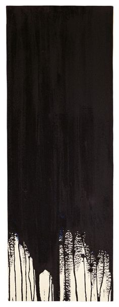 gacougnol:    Yves Klein Monochrome noir sans titre (M 17), 1957, 74 x 24cm.  Thank you gacougnol.