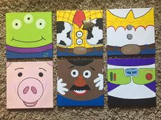 Canvas Toy Story Hand Paintings on Mercari Disney Canvas Paintings, Disney Canvas Art, Disney Wall Art, Kids Canvas Art, Small Canvas Art, Easy Paintings, Canvas Painting Tutorials, Easy Canvas Painting, Diy Painting