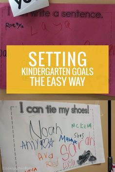 Setting Kindergarten Goals the Easy Way, Paragraph Writing, Persuasive Writing, Writing Rubrics, Opinion Writing, Kindergarten Goals, Kindergarten First Day, Personal Narrative Writing, Parent Teacher Conferences, Student Goals