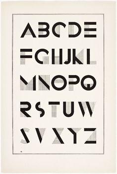 History is mine. - Irene K. Ames, A portfolio of Alphabet Designs for artists, architects, designers & craftsmen, 1938 - Alphabet Design, Hand Lettering Alphabet, Typography Letters, Art Deco Typography, Japanese Typography, Creative Typography, Modern Typography, Vintage Typography, Typography Poster