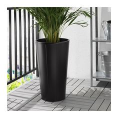 GRÄSET Plant pot IKEA Galvanized for rust resistance. Weather-resistant and durable.