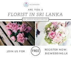 Are u a florist in Sri Lanka. Join us to day for free. Kandi, Sri Lanka, Join, Wedding Photography, Wedding Dresses, Day, Free, Instagram, Bride Dresses