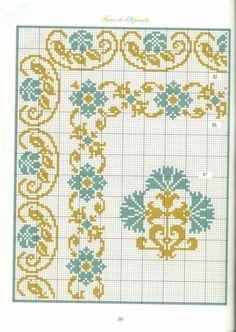 Borders in cross stitch 17 Cross Stitch Boarders, Cross Stitch Art, Cross Stitch Designs, Cross Stitching, Cross Stitch Patterns, Diy Embroidery, Cross Stitch Embroidery, Embroidery Patterns, Seed Bead Patterns