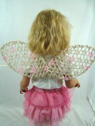 Free Crochet Pattern - Tattered Angel Wings - link to print instructions is found below photos and description. Mode Crochet, All Free Crochet, Crochet Girls, Crochet For Kids, Crochet Baby, Knit Crochet, Crochet Angels, Crochet Toddler, Crochet Crafts