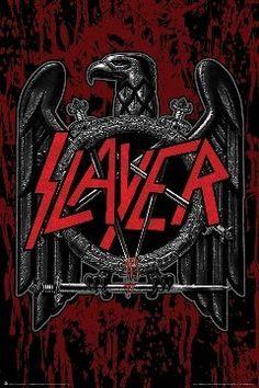 "$7.77 (24x36"") Slayer Heavy Metal Poster Eagle Logo:Amazon:Everything Else"