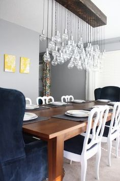 Dining Room Light Idea for in front of the window over the table.