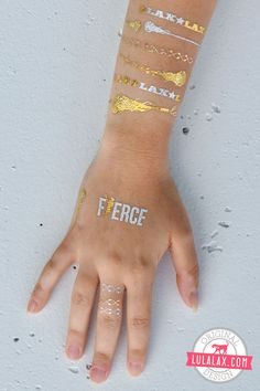 Be Fierce with our stylish Metallic Lacrosse Jewelry Tattoos! Exclusively at LuLaLax.com