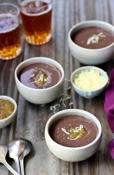 (US) Pureed Black Bean and Fire Roasted Salsa Soup - recipe at cali-zona.com
