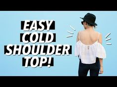 DIY Cold Shoulder / Off the Shoulder Top (Easy!) | WITHWENDY - YouTube