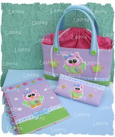 Leskka - Arte em e.v.a Owl Pictures, Crafts With Pictures, Cute Crafts, Crafts For Kids, Altered Composition Books, Post It Note Holders, Foam Crafts, Kids Bags, Diy Projects To Try