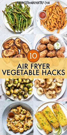 Tired of the same old boring and bland veggies? These 10 Amazing Air Fryer Vegetable Recipes are exactly what you've been looking for! With the air fryer, all it takes is just a few minutes and a tiny bit of oil to serve up totally crave-worthy veggies th Air Fryer Oven Recipes, Air Frier Recipes, Air Fryer Dinner Recipes, Air Fryer Recipes With Calories, Power Air Fryer Recipes, Air Fryer Recipes Potatoes, Air Fryer Baked Potato, Best Vegetable Recipes, Healthy Recipes