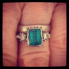 "@ruthtomlinsonjewellery's photo: ""Happy customer a very special #emerald #weddinganniversary #bespoke #midascollection"""