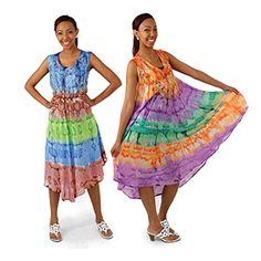 Tie dye Summer Dress $9.95 Get into the groove of summer with this tie dye summer dress. C-WS748 Visit us at: africaimports.com #summerdress #tiedyedress