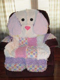 Rag animal dog quilt. $140.00, via Etsy.