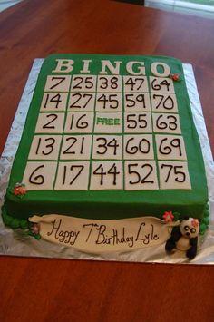 Who doesn't love BINGO! Bingo Cake, Bingo Party, 85th Birthday, Birthday Cakes, Birthday Ideas, Cake Decorating, Decorating Ideas, Cake Photos, Cake Business