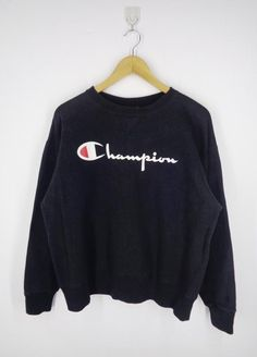 2d632cdf65e1f1 Champion Sweatshirt Vintage 90 s Champion Big Logo Champion Pullover  Crewneck Sweater Champion Activewear Jacket Made In USA Mens Size M