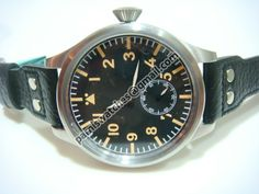 PARNIS PI59 60MM TO CROWN JUMBO PILOT HANDWIND SS - 60mm Marina Militare - Parnis watch station