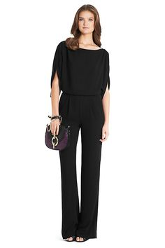 Lucy Crepe Jumpsuit in in Black