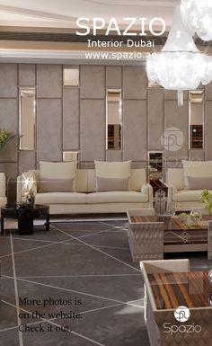 التصميم الداخلي الفاخر  والديكورات الانيقة لغرفة الضيوف أو غرفة المعيشة  في منازل دبي.يو. #majlis