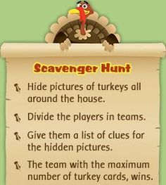 Games for Adults Thanksgiving scavenger hunt for adults This could be fun with turkeys or pumpkins or whatever for Impact!Thanksgiving scavenger hunt for adults This could be fun with turkeys or pumpkins or whatever for Impact! Thanksgiving Games For Adults, Thanksgiving Projects, Thanksgiving Activities, Holiday Activities, Senior Activities, Thanksgiving Celebration, Thanksgiving Traditions, Family Thanksgiving, Thanksgiving Parties