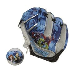 """Franklin Sports Marvel The Avengers AIR TECH Baseball Glove and Ball Set by Franklin Sports. $10.62. 8.5"""" soft foam AIR TECH glove. Ages 3 and up. 2.5"""" soft foam baseball with durable hand-sewn cover. From the Manufacturer                Let the Avengers help you playball!  This set is ideal for baseball beginners.  The glove fits nicely on young hands and the ball is easy to grip and throw.                                    Product Description                Kids will ha..."""