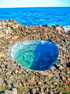 This little-known gem is located close to the Glasé Pool in Boetica. It's fun to sit in and have a natural warm sea bath - Dominica/Lesser Antilles/Caribbean island