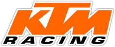 "KTM Racing Vinyl Sticker Decal Can be placed on any Smooth Surface Notebook Window Car Bumper Wall Decor Size 7""x3"""