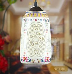 #Modern #Antique #Vintage Century #Retro Porcelain #Ceramic Mild White #Hanging #Lamp
